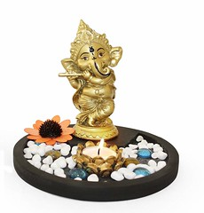 Lord Ganesha Playing Bansuri Showpiece (mywowstuff) Tags: gifts gift ideas gadgets geeky products men women family home office