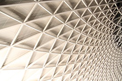 curvature (Andrew Eadie) Tags: kingscross station arup steel ceiling roof architecture john mcaslan architect vinci camden london canonefs1585mmf3556isusm andreweadie