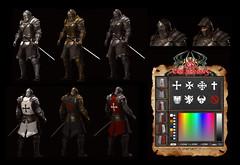 TSC-Battle Warden (Topa Adamski) Tags: knight aesthetic medieval fantasy zbrush secondlife tscreations warrior fullplate signature armor tsc