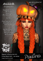 SLS Trick or Treat *update* (by Dolphin Ayres) Tags: appearal hair meshhair hairstyling femalehair girlhair groupgifts luckyboards gift riggedmesh mod secondlife sl rigged mesh hairstyles hairdos streaks colors haircolors huds scriptedhair huddriven riggedmeshhair escalated slhairstyle hairstyle hud haircolor magic 3d roleplay romantic rock escalation braid braided braids game gamecontent fantasy design dark sexy sweet snapshot advertisment portrait unrigged resizeable hairdo escalatedadjustable midnightmania storecredit trickortreatsls halloween