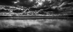 Newquay (paullangton) Tags: mono cornwall newquay fistral blackandwhite canon sun clouds contrast beach landscape sea sand reflection dark storm skancheli