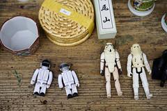 Backstreet astronauts and sleeping stormtroopers (Eric Flexyourhead) Tags: naramachi nara narashi 奈良市 kansai 関西地方 japan 日本 city urban detail fragment toy toys astronaut astronauts stormtrooper stormtroopers starwars sonyalphaa7 zeisssonnartfe55mmf18za zeiss 55mmf18