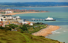 Eastbourne (iwys) Tags: eastbourne seaside town resort beaches sandy pier south downs way footpath blue sea sky summer holiday sussex england english townscape bays grass golden green coast coastal scenery hills