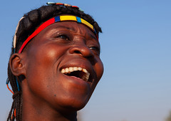 Portrait of a laughing Muhacaona  tribe woman, Cunene Province, Oncocua, Angola (Eric Lafforgue) Tags: adult africa africantribe angola angolan colourimage copyspace cultures cuneneprovince day developingcountries ethnicgroup hair hairstyle happiness headshot horizontal humanbeing indigenousculture jewellery laughing lifestyles mucawana muhacaona muhakaona oncocua oneperson onewomanonly oshiwawbo outdoors photography portrait ruralscene smile smiling tribal tribe ang0k6g9179