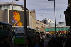 Dr Who ... (Esmik D'Aguiar) Tags: nottingham uk sigma dp merrill cityscape city urban bus people traffic shops architecture buildings bridge dr who