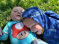 Eliza and Paul (quinn.anya) Tags: eliza paul toddler baby snuggle brother sister grass