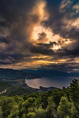 View of Psatha,Greece. (Vagelis Pikoulas) Tags: sea seascape landscape sunset sunshine canon 6d tokina 1628mm nature october autumn 2018 clouds