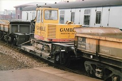 W 217319 270288 (stevenjeremy25) Tags: flatrol well wagon br railway engineers excavator basingstoke