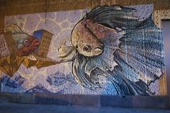 Babs + Socrome + Keyone_8479 rue Pascal Paris 13 (meuh1246) Tags: streetart paris animaux babs socrome keyone ruepascal paris13 poisson