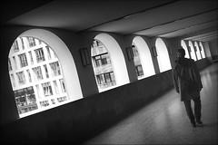 arcades of misery (bostankorkulugu) Tags: germany talk wall tilted tilt korkut graphism graphics geometry europe deutschland bw bostankorkulugu bostanci bostan blackwhite blackandwhite monochrome hansestadt hanseatic arcade arch arches brückenarkade stadthof palaishof hamburg