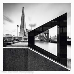Isosceles Trapezium (woody1864) Tags: architecture londonskyline monochrome blackwhite longexposure leelittlestopper londonbridge riverthames theshard london londonsouthbank nikond810 nikkor1635mm
