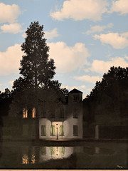 """""""The Empire of Lights"""", Rene Magritte (1954) (Joey Hinton) Tags: sanfrancisco california unitedstates rene magritte exhibit museum modern art google pixel2 andriod smartphone cellphone cameraphone phone"""