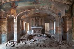 Resurrection (Lo.Re.79) Tags: church abandoned altar christ decay exploration forgotten italy religion rotten rottenplaces school urban urbex