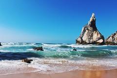 Marta Monteiro (martagpmonteiro) Tags: beach sea rocks sand