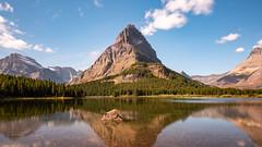 Swiftcurrent Lake ((JAndersen)) Tags: glacier glaciernationalpark montana mountains water reflection lake swiftcurrentlake clouds longexposure nikon d810 nikkor2470mmf28ged usa manyglacier grinnell