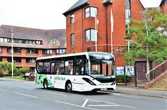 White Bus YX68 ULW (stavioni) Tags: adl alexander dennis enviro 200 mmc white bus 60 yx68ulw