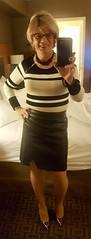 faux leather wrap skirt (krislagreen) Tags: tg tgrirl transgender transvestite cd crossdress skirt pleather leather wrap patent animal print femme feminized feminization