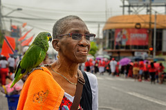 Independence Day_woman with parrot (abtabt) Tags: trinidadandtobago tt pos portofspain independence independenceday street people parade march d70028300 woman oldaged parrot caribbean holiday