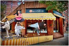 New York pizzeria sues marshal arts school for commandeering outdoor seating area. (Fotofricassee) Tags: pizza pizzeria new york city marshal arts yoga twe chi