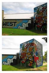 West Education Campus School | Washington D.C. (Stephenie DeKouadio) Tags: canon photography outdoor art artwork washington dc dcphotos dcurban architecture colorful color colour urban urbandc streetart