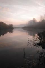 Morning (decemberGirl.) Tags: morning lake reflection dawn mist misty water surface sky nature serene novosibirsk