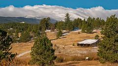 Wind Swept Peaks (RkyMtnGrl) Tags: landscape nature scenery vista snow peaks mountains trees barn indianpeaks jamestownroad colorado 2018 nikon 28300mm