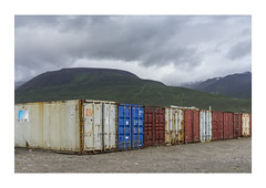 Containers in Nature (hvb72) Tags: red blue green sky yellow iceland summer sony