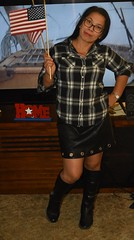 DSC_6303 (Ez2plee4u) Tags: sexy filipina wife husband skirt dress american flag booth high heels dance leg beauty beautiful leather red black yellow tv smile face colorado love happy short