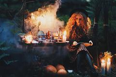 wicca I (AzureFantoccini) Tags: bjd doll abjd balljointeddoll granado ozin5 emon eva wicca forest magic witch witchcraft dollroom miniature diorama october halloween creepy