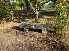 Old stone bench (Mc Steff) Tags: old stone bench bank steinbank steinern steinerne autumn fall herbst