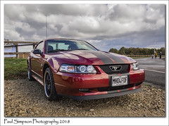 2004 Ford Mustang (Paul Simpson Photography) Tags: fordmustang americancar fastcar lincolnshire sonya77 october2018 paulsimpsonphotography imagesof imageof photoof photosof redcar clouds sky transport sportscar musclecar mustangsally carphotography