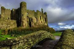 Laugharne Castle (ivanstevensphotography) Tags: castle ruins bridge stone estuary sea village wales