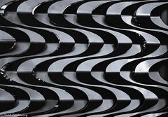 Swirls 2 (Thad Zajdowicz) Tags: zajdowicz sandiego california usa travel canon eos 5dmarkiii dslr digital availablelight lightroom ef70200mmf4lisusm abstract metal fence pattern curves blackandwhite bw monochrome black white noir blanc lines architecture minimal