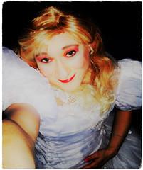 closeup blonde (Martina H.) Tags: portrait closeup bride wedding gown dress white beauty elegant satin silk blonde makeup selfie