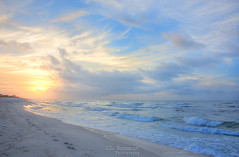 Pensacola Beach, Florida Sunrise (J.L. Ramsaur Photography) Tags: jlrphotography nikond7200 nikon d7200 photography photo 2018 engineerswithcameras photographyforgod thesouth southernphotography screamofthephotographer ibeauty jlramsaurphotography photograph pic tennesseephotographer pensacolabeachfl florida escambiacountyflorida emeraldcoast beach ocean gulfofmexico sand waves pensacolabeach floridapanhandle worldswhitestbeaches cradleofnavalaviation gulfislandsnationalseashore westerngatetothesunshinestate americasfirstsettlement pensacolabeachflorida pcola redsnappercapitaloftheworld cityoffiveflags pcolabeach sunrise sunset sun sunrays sunlight sunglow orange yellow blue bluesky deepbluesky beautifulsky whiteclouds clouds sky skyabove allskyandclouds wherethemapturnsblue ilovethebeach bluewater blueoceanwater sea landscape southernlandscape nature outdoors god'sartwork nature'spaintbrush