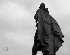 Leifur Eiriksson/Leif Erikson (bd168) Tags: statues norseexplorers explorateursnorse monument islande iceland monochrome voyages travel xt10 xf50mmf2rwr