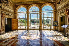 Vizcaya Villa in Miami, Florida (` Toshio ') Tags: toshio miami florida vizcaya villa stainedglass garden interior museum mansion light architecture italian fujixt2xt2 pattern usa