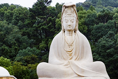 Buddha Statue in Kodaiji Temple (Synghan) Tags: buddhastatue buddha statue kodaiji temple frontview stone stony photography horizontal outdoor colourimage fragility freshness nopeople foregroundfocus adjustment interesting awe wonder fulllength japan japanese kyoto sitting tranquility peace vivid forest grove trees artificial manmade religion religious buddhism buddhist worship gigantic gorgeous big huge canon eos80d 80d sigma 1770mm f284 dc macro lens 고다이지 절 부처 부처상 붓다