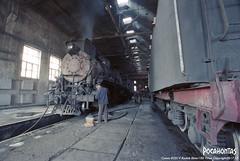2017/10/3 JS8190 Sandaoling (Pocahontas®) Tags: kodak ektar100 kodakektar100 steam steamlocomotive steamloco steamengine steamtrain rail railroad railway sandaoling train locomotive loco coal mine coalmine js8190