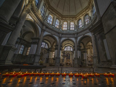 Santa Maria della Salute (y.mihov, Big Thanks for more than a million views) Tags: santa maria della salute venice venezia viewpoint sonyalpha sightseeing sigma 1224mm wealth wide candle light trespass travel tourist town church christian architecture art arcs buildings stone inside interior indoors worship window winter empty europe italy islands isle historical history old retro