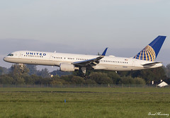 United Airlines 757-200 N18119 (birrlad) Tags: shannon snn international airport ireland aircraft aviation airplane airplanes airline airliner airlines airways arrival arriving approach finals landing runway boeing b757 b752 757 757200 757224 n18119 united ua25 newark