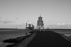 South Shields - Photocredit Neil King-46 (Neilfatea) Tags: southshields northeast lighthouse workingboats tugs rivertyne water northsea blackwhite blackandwhite bw monochrome