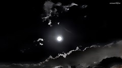 luce nel cielo, light in the sky (Massimo Vitellino) Tags: moon sky clouds atmosphere romantic nature perspective outdoors hdr blackandwhite abstract contrast conceptual lights shadows noperson