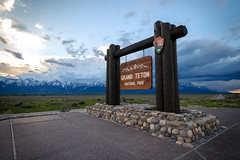 Grand Teton National Park (pauliefred) Tags: jackson wyoming unitedstates us national park nationalpark grand teton grandteton grandtetonnationalpark sign