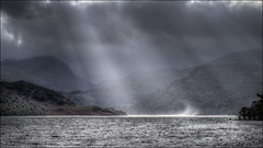 Ullswater, Cumbria (Darwinsgift) Tags: cumbria lake district ullswater hdr storm light shafts waterscape water spout