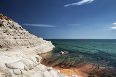 Scala dei Turchi, Realmonte - Agrigento (Italy) (Andrea Moscato) Tags: andreamoscato italia sicilia view vivid vista light landscape luce paesaggio people nature natura nuvole natural naturale mountain montagna mare mediterraneo mediterranean shadow sky sea stones sand sun seascape sabbia spiaggia seashore blue beach acqua water white waves clouds cliff cielo scogliera scenic orange island isola overlook