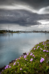 Stormy Skies Over Port || PORT MACQUARIE || NSW (rhyspope) Tags: australia aussie nsw new south wales port macquarie portmacquarie marina rhys pope rhyspope rhyspopephotography canon 5d mkii storm sky flower boat water sea ocean bay weather amazing travel