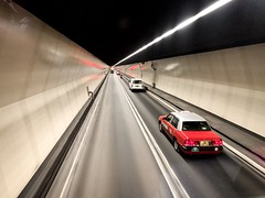Hong Kong (Bill Thoo) Tags: perspective iphonexsmax iphone transport traffic driving drive motor vehcile street road travel urban city harbourtunnel car taxi bus tunnel hongkong 香港