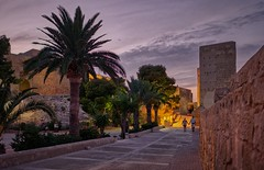 Santa Bárbara Castle, Alicante (Vest der ute) Tags: xt20 spain castle rocks sky clouds palmtrees people flowers fav25