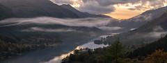 Evening Mist (jasty78) Tags: creagantuirc balquhidder stirling lochvoil loch trees postsunset mist gloaming panorama lightroom scotland nikond7200 tamron150600mm 150mm bluehour